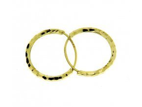 Dětské náušnice - kroužky ze žlutého zlata 12 mm