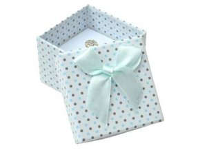 darkova krabicka na prsten bila sede a modre puntiky 076434 pd