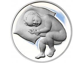 Stříbrný medailon k narození dítěte 2018