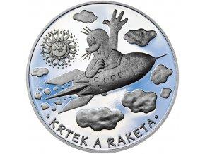 Krteček a raketa - stříbrný medailon pro děti