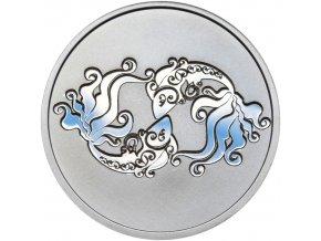 Znamení zvěrokruhu RYBY - stříbrná medaile