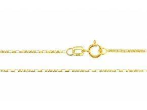 Ozdobný řetízek ze žlutého zlata II.