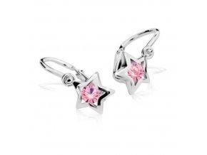 Dětské naušnice Cutie C1942-B Pink - hvězdičky