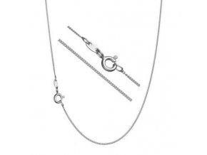 Stříbrný řetízek plochý 45 cm x 0,9 mm