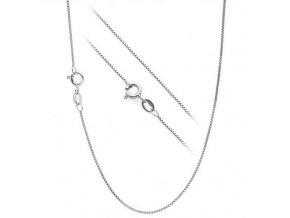 Stříbrný řetízek čtvercový 45 cm x 0,8 mm