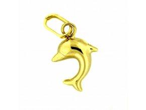 Zlatý dětský přívěsek - delfínek