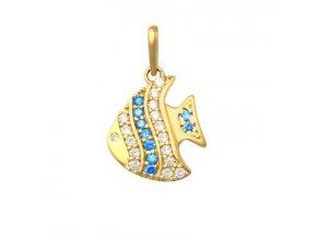 Zlatý dětský přívěsek - rybička