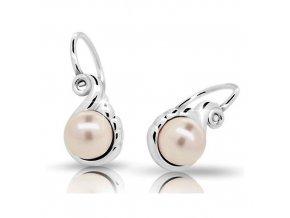 Dětské náušnice Cutie C2408-Ag Peach - stříbrné s perlou