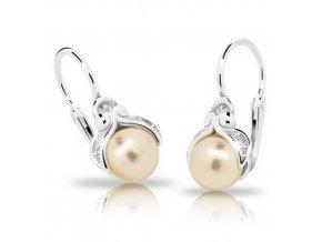 Dětské náušnice Cutie C2414-Ag Peach - stříbrné s perlou