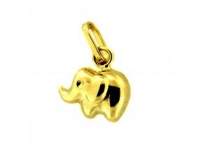Zlatý dětský přívěsek - malý slon