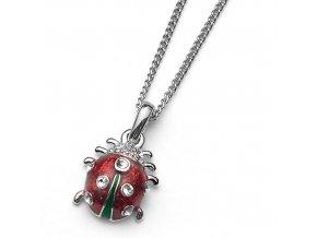 Dětský náhrdelník s krystaly Swarovski Oliver Weber - beruška