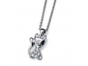 Dětský náhrdelník s krystaly Swarovski - kočička