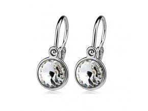 Dětské stříbrné náušnice s krystaly Swarovski - čirá 6 mm
