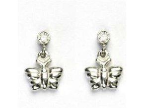Dětské stříbrné náušnice 28/763 - motýlci