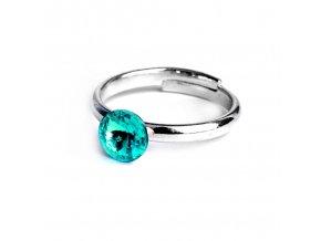 vyr 2311Detsky prstynek se Swarovski crystals Rivoli 6 Light Turquoise u
