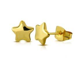 zlacene ocelove nausnice hvezdicky 048170 pd