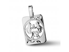 Stříbrný přívěsek - znamení Blíženci 9x11 mm