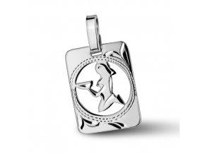 Stříbrný přívěsek - znamení Panna 9x11 mm