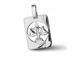 Stříbrný přívěsek - znamení Váhy 9x11 mm