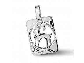 Stříbrný přívěsek - znamení Kozoroh 9x11 mm