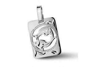 Stříbrný přívěsek - znamení Ryby 9x11 mm