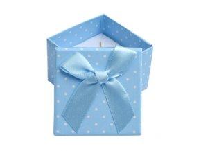 darkova krabicka na prsten modra bile puntiky 063505 pd