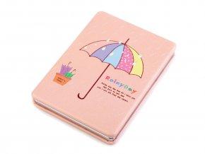 deštník, růžová