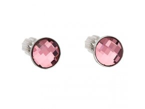stribrne sroubovaci nausnice s crystals from swarovskir antique pink 069574 or u