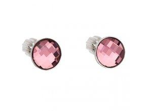 stribrne sroubovaci nausnice s crystals from swarovskir antique pink 069574 or u