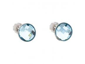 stribrne sroubovaci nausnice s crystals from swarovskir aqua 069578 or u