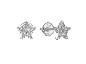 stribrne nausnice hvezdicky se zirkony 069996 pd x