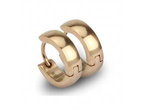 Ocelové kroužky zlacené 13,5x4 mm