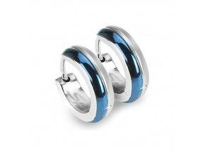 Ocelové kroužky, modrá 13x4 mm