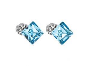 stribrne nausnice crystals from swarovskir aqua 061997 pd