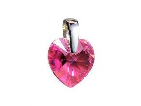 stribrny privesek srdce z dilny crystals from swarovskir pink 023077 pd 50
