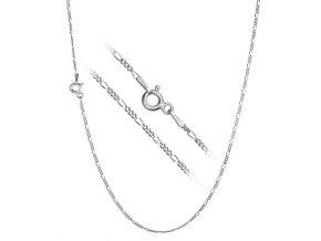 Stříbrný řetízek figaro 40 cm x 1,2 mm