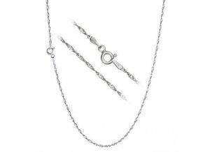 Stříbrný řetízek lambáda 45 cm x 2 mm