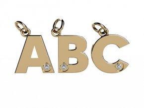 Písmenka ze žlutého zlata A-Z