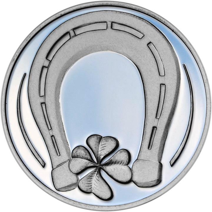 Stříbrná medaile pro štěstí - dárek k narození, ke křtu