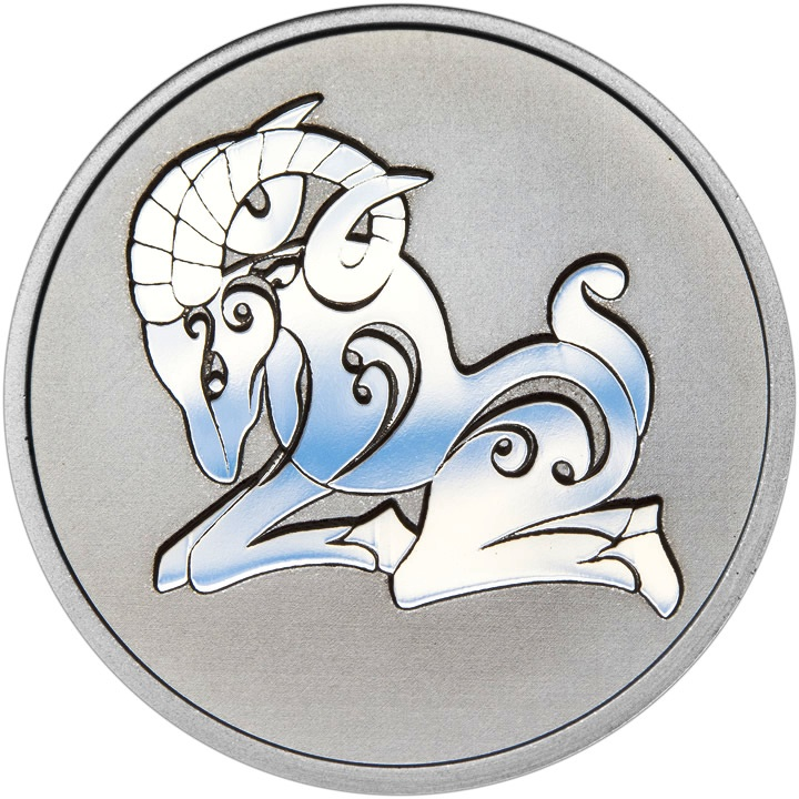 Znamení zvěrokruhu BERAN - stříbrná medaile pro děti