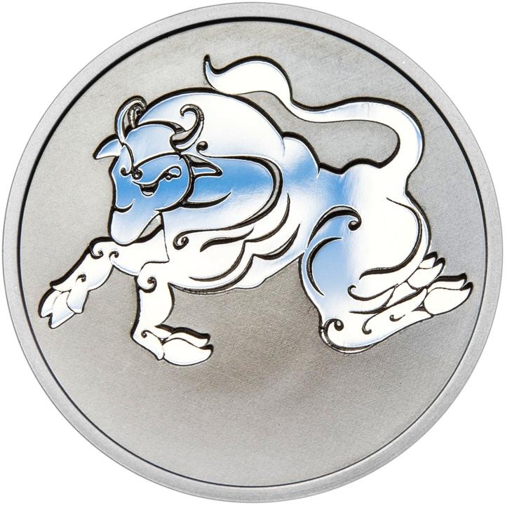 Znamení zvěrokruhu BÝK - stříbrná medaile