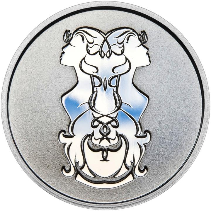 Znamení zvěrokruhu BLÍŽENCI - stříbrná medaile