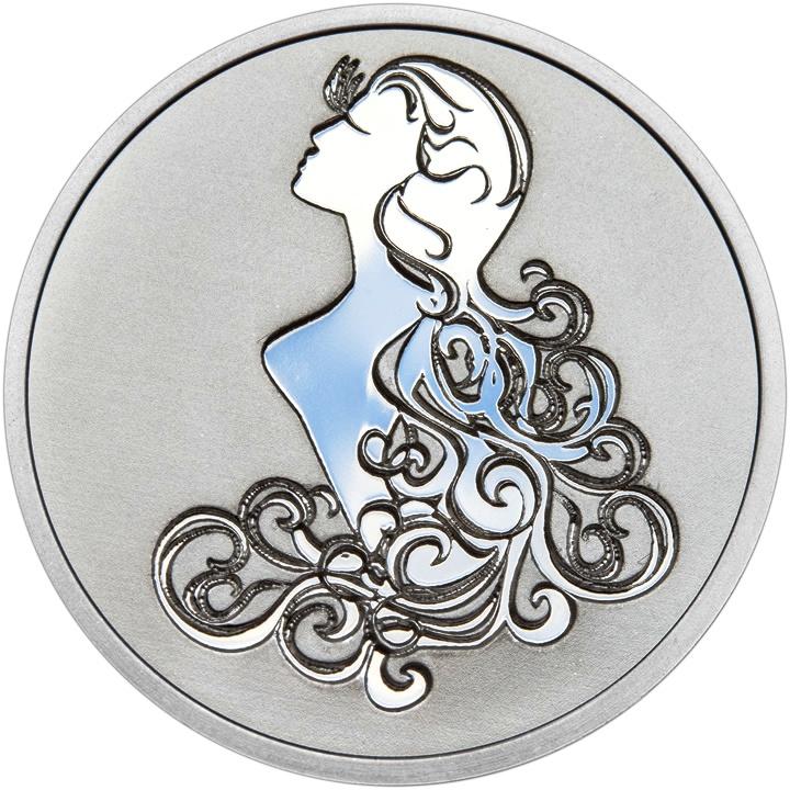 Znamení zvěrokruhu PANNA - stříbrná medaile