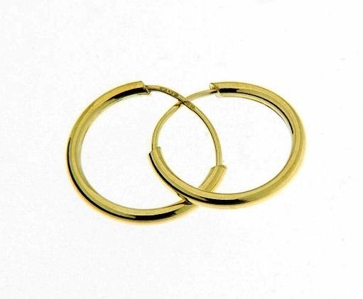 Dětské náušnice - kroužky ze žlutého zlata Kroužky: Zlaté kroužky 0,60-0,67 g