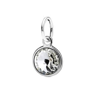 Dětský stříbrný přívěsek Swarovski® elements - čirá kolečka