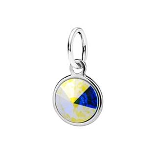 Dětský stříbrný přívěsek Swarovski® elements - duhové kolečko