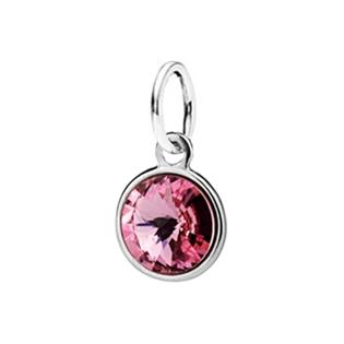 Dětský stříbrný přívěsek Swarovski® elements - růžové kolečko