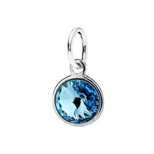 Dětský stříbrný přívěsek Swarovski® elements - modré kolečko