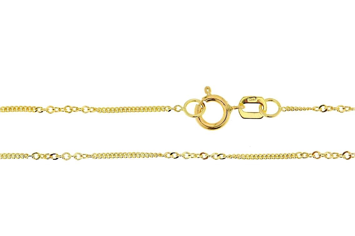 Zlatý dětský řetízek ozdobný Varianta:: Délka 38 cm