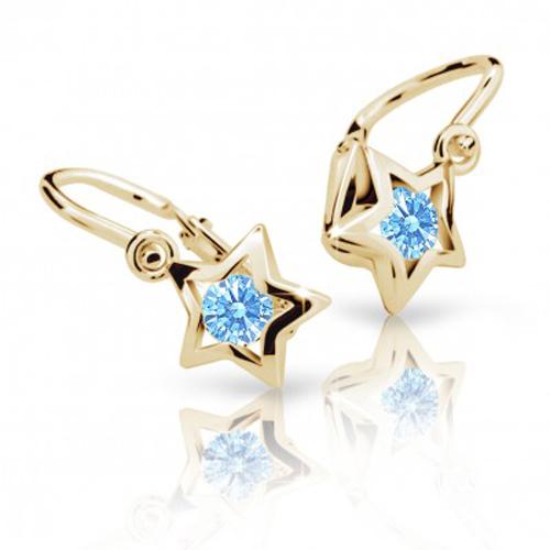 Cutie Jewellery Dětské naušnice Cutie C1942-Z Arctic Blue - hvězdičky